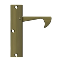 "Deltana Ept425U5 - Edge Pulls-Thin, 4 1/4""X 1""X 3/8"" - Antique Brass Finish"