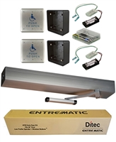 Ditec Ez36 All-In-One Ada Handicap Door Opener Kit, Pull Application, Clear Anodized Finish