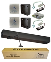 Ditec Ez36 All-In-One Ada Handicap Door Opener Kit, Push Application, Dark Bronze Anodized Finish
