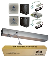 Ditec Ez36 All-In-One Ada Handicap Door Opener Kit, Push Application, Clear Anodized Finish
