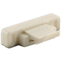 Prime Line F 2606 - Sliding Window Latch, Spring Loaded, White Nylon
