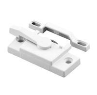Prime Line F 2744 - Vinyl Window Sash Lock W/Keeper, White