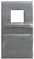 Don Jo Fbg-1-Sq-Steel, Flush Bolt Guide, Steel Finish