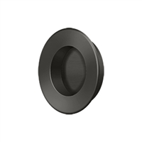"Deltana Fp178U10B - Flush Pull, Round, Hd, 1-7/8"", Solid Brass - Oil-Rubbed Bronze Finish"