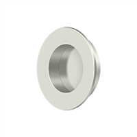 "Deltana Fp178U14 - Flush Pull, Round, Hd, 1-7/8"", Solid Brass - Polished Nickel Finish"