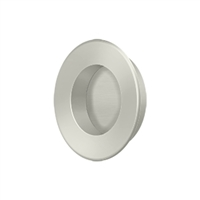 "Deltana Fp178U15 - Flush Pull, Round, Hd, 1-7/8"", Solid Brass - Brushed Nickel Finish"