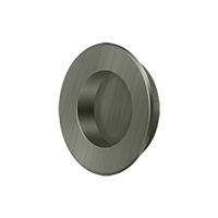 "Deltana Fp178U15A - Flush Pull, Round, Hd, 1-7/8"", Solid Brass - Antique Nickel Finish"