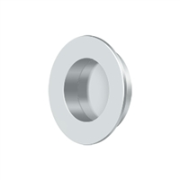 "Deltana Fp178U26 - Flush Pull, Round, Hd, 1-7/8"", Solid Brass - Polished Chrome Finish"