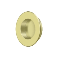"Deltana Fp178U3 - Flush Pull, Round, Hd, 1-7/8"", Solid Brass - Polished Brass Finish"