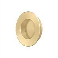 "Deltana Fp178U4 - Flush Pull, Round, Hd, 1-7/8"", Solid Brass - Brushed Brass Finish"