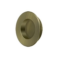 "Deltana Fp178U5 - Flush Pull, Round, Hd, 1-7/8"", Solid Brass - Antique Brass Finish"