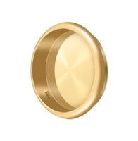 "Deltana Fp221Rcr003 - Flush Pull, Round, 2-1/2"" Diam. - Pvd Polished Brass Finish"