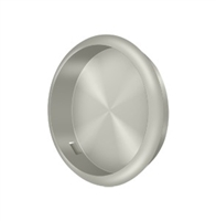 "Deltana Fp221Ru15A - Flush Pull, Round, 2-1/2"" Diam. - Antique Nickel Finish"