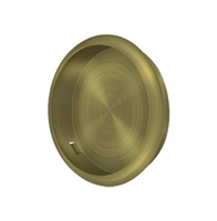 "Deltana Fp221Ru5 - Flush Pull, Round, 2-1/2"" Diam. - Antique Brass Finish"