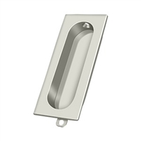 "Deltana Fp222U14 - Flush Pull, Rectangle, 3-1/8""X 15/16"" - Polished Nickel Finish"