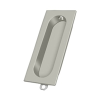 "Deltana Fp222U15 - Flush Pull, Rectangle, 3-1/8""X 15/16"" - Brushed Nickel Finish"