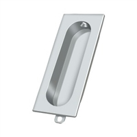 "Deltana Fp222U26 - Flush Pull, Rectangle, 3-1/8""X 15/16"" - Polished Chrome Finish"