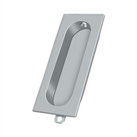 "Deltana Fp222U26D - Flush Pull, Rectangle, 3-1/8""X 15/16"" - Brushed Chrome Finish"