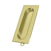 "Deltana Fp222U3 - Flush Pull, Rectangle, 3-1/8""X 15/16"" - Polished Brass Finish"