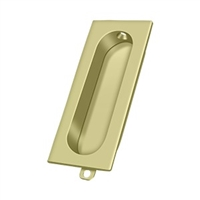"Deltana Fp222U3-Unl - Flush Pull, Rectangle, 3-1/8""X 15/16"" - Unlacquered Brass Finish"