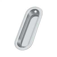 "Deltana Fp223U26 - Flush Pull, Oblong, 3-1/2""X 1-1/4""X 5/16"" - Polished Chrome Finish"