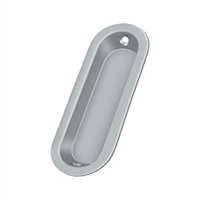 "Deltana Fp223U26D - Flush Pull, Oblong, 3-1/2""X 1-1/4""X 5/16"" - Brushed Chrome Finish"