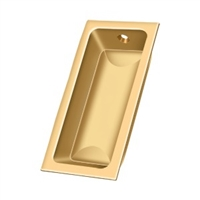 "Deltana Fp227Cr003 - Flush Pull, Large, 3-5/8""X 1-3/4""X 1/2"" - Pvd Polished Brass Finish"