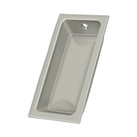 "Deltana Fp227U15 - Flush Pull, Large, 3-5/8""X 1-3/4""X 1/2"" - Brushed Nickel Finish"