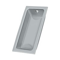 "Deltana Fp227U26D - Flush Pull, Large, 3-5/8""X 1-3/4""X 1/2"" - Brushed Chrome Finish"