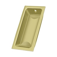 "Deltana Fp227U3 - Flush Pull, Large, 3-5/8""X 1-3/4""X 1/2"" - Polished Brass Finish"