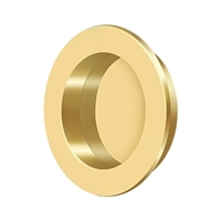 "Deltana Fp238Cr003 - Flush Pull , Round, Hd, 2-3/8"", Solid Brass - Pvd Polished Brass Finish"