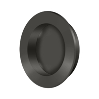 "Deltana Fp238U10B - Flush Pull , Round, Hd, 2-3/8"", Solid Brass - Oil-Rubbed Bronze Finish"