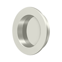 "Deltana Fp238U14 - Flush Pull , Round, Hd, 2-3/8"", Solid Brass - Polished Nickel Finish"