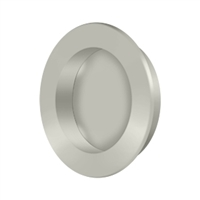 "Deltana Fp238U15 - Flush Pull , Round, Hd, 2-3/8"", Solid Brass - Brushed Nickel Finish"