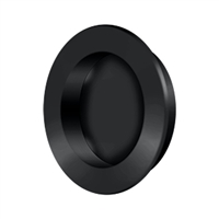 "Deltana Fp238U19 - Flush Pull , Round, Hd, 2-3/8"", Solid Brass - Paint Black Finish"