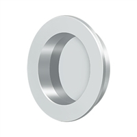 "Deltana Fp238U26 - Flush Pull , Round, Hd, 2-3/8"", Solid Brass - Polished Chrome Finish"