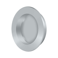 "Deltana Fp238U26D - Flush Pull , Round, Hd, 2-3/8"", Solid Brass - Brushed Chrome Finish"