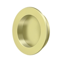 "Deltana Fp238U3 - Flush Pull , Round, Hd, 2-3/8"", Solid Brass - Polished Brass Finish"