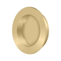 "Deltana Fp238U4 - Flush Pull , Round, Hd, 2-3/8"", Solid Brass - Brushed Brass Finish"