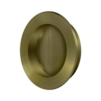 "Deltana Fp238U5 - Flush Pull , Round, Hd, 2-3/8"", Solid Brass - Antique Brass Finish"