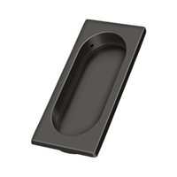 "Deltana Fp4134U10B - Flush Pull, Large, 3-7/8"" X 1-5/8"" X 3/8"" - Oil-Rubbed Bronze Finish"