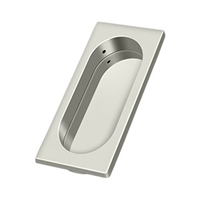 "Deltana Fp4134U14 - Flush Pull, Large, 3-7/8"" X 1-5/8"" X 3/8"" - Polished Nickel Finish"