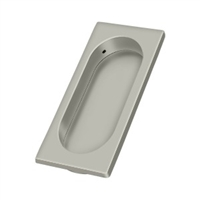 "Deltana Fp4134U15 - Flush Pull, Large, 3-7/8"" X 1-5/8"" X 3/8"" - Brushed Nickel Finish"