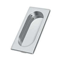 "Deltana Fp4134U26 - Flush Pull, Large, 3-7/8"" X 1-5/8"" X 3/8"" - Polished Chrome Finish"
