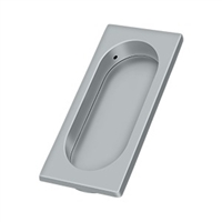 "Deltana Fp4134U26D - Flush Pull, Large, 3-7/8"" X 1-5/8"" X 3/8"" - Brushed Chrome Finish"