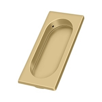 "Deltana Fp4134U4 - Flush Pull, Large, 3-7/8"" X 1-5/8"" X 3/8"" - Brushed Brass Finish"