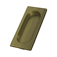 "Deltana Fp4134U5 - Flush Pull, Large, 3-7/8"" X 1-5/8"" X 3/8"" - Antique Brass Finish"