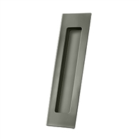 "Deltana Fp7178U15A - Flush Pull, Rectangular, Hd, 7"" X 1-7/8"" X 3/8"", Solid Brass - Antique Nickel Finish"