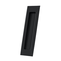 "Deltana Fp7178U19 - Flush Pull, Rectangular, Hd, 7"" X 1-7/8"" X 3/8"", Solid Brass - Paint Black Finish"