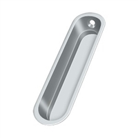 "Deltana Fp828U26 - Flush Pull, 4""X 1""X 1/2"" - Polished Chrome Finish"